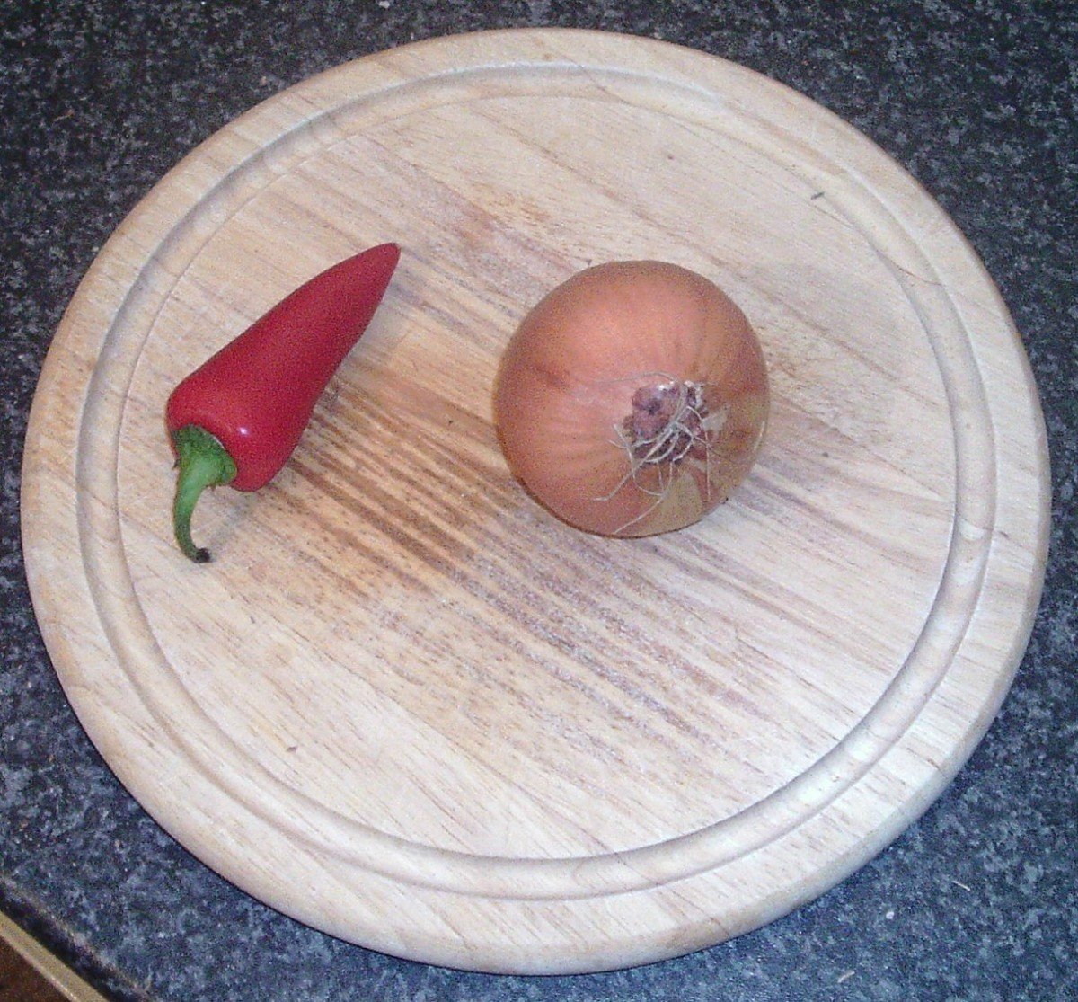 Red chilli and onion