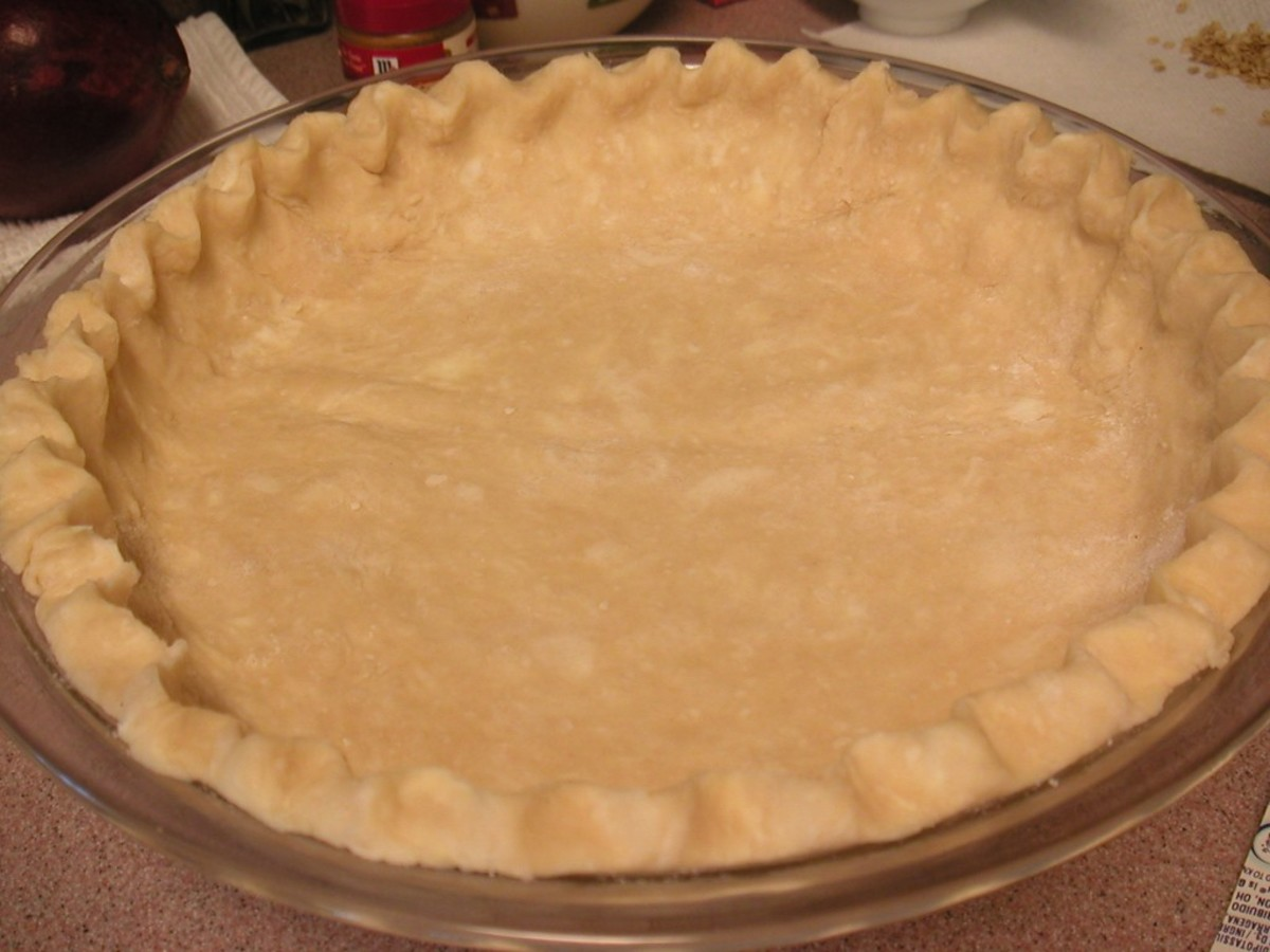 Prepared uncooked pie crust
