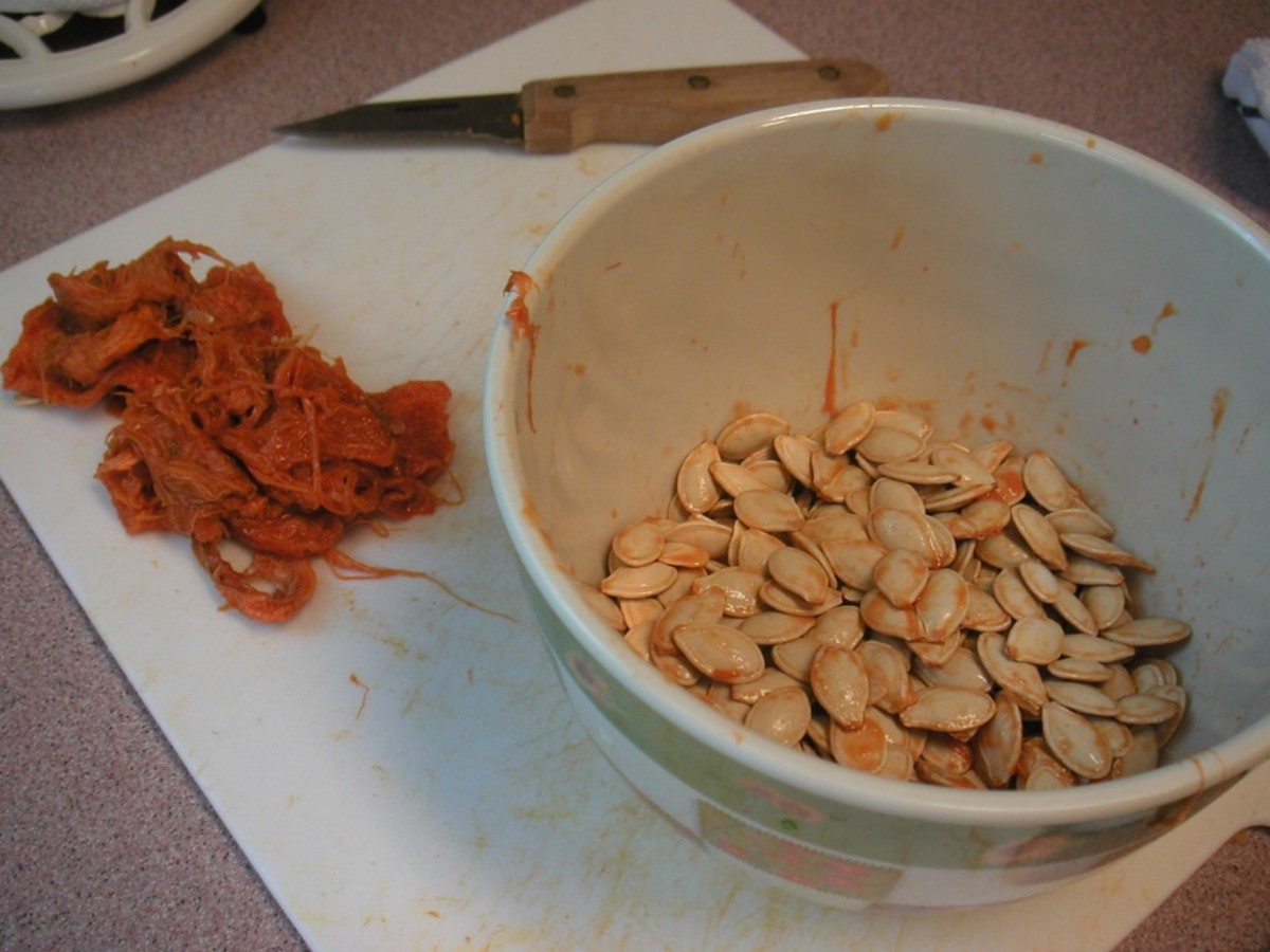 Soak the seeds in water to remove the remaining pulp.