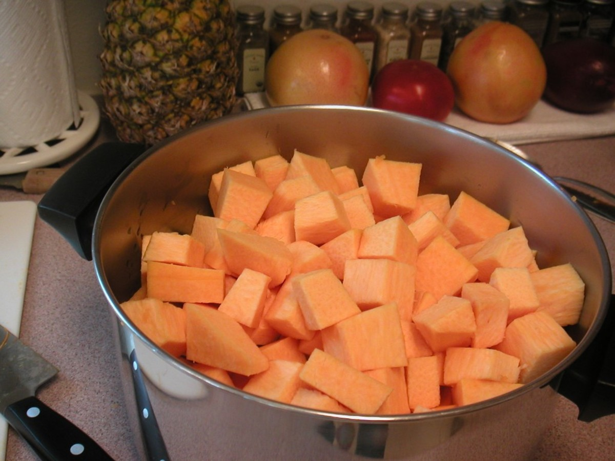 Cover the cubes with water and bring to a boil.