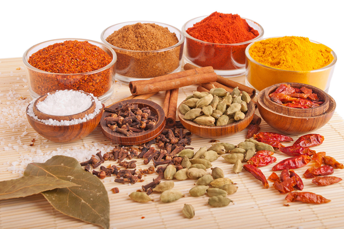 A wide variety of spices.