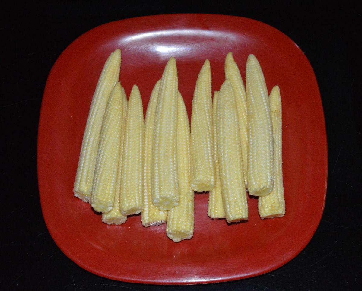 The baby corn.