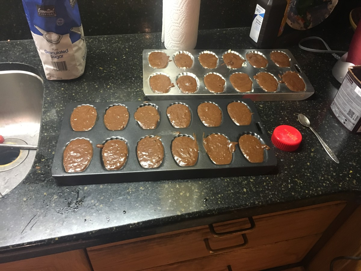 Pour batter into molds and bake.
