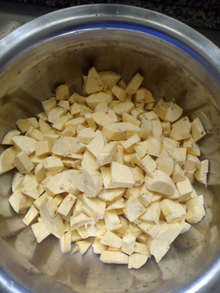 Chopped plantain