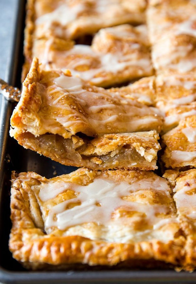 Slab Apple Pie with Maple Glaze