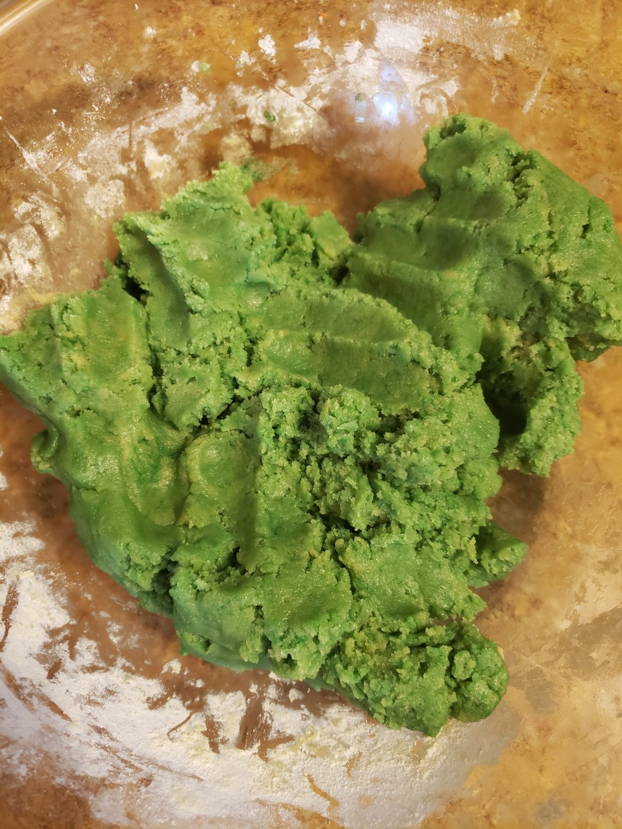 Green cookie dough.