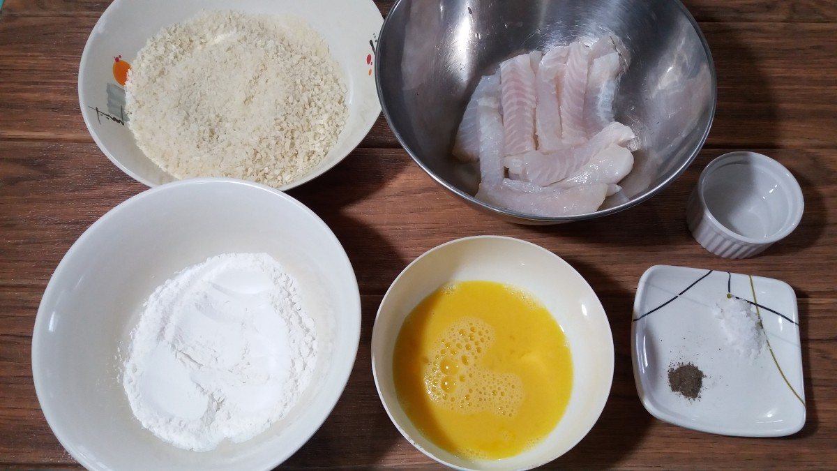 Fish and chips ingredients