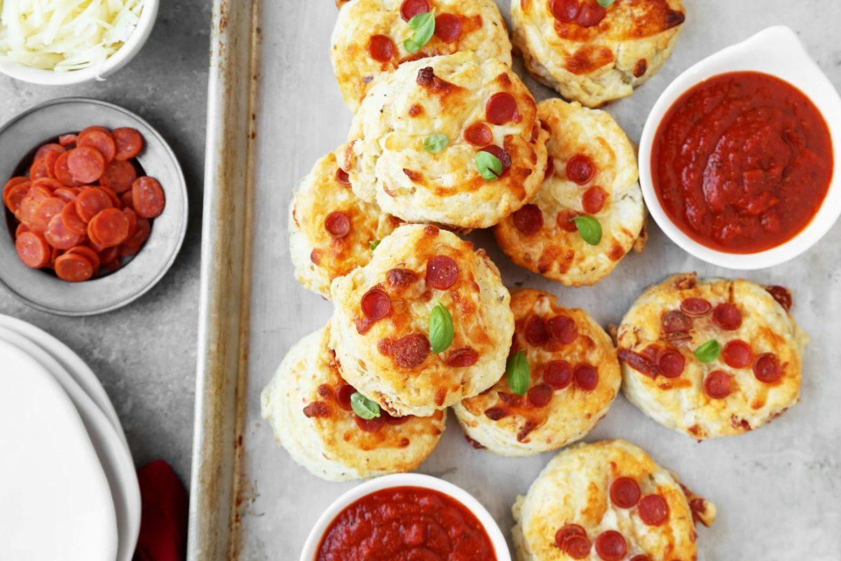 Pepperoni pizza scones
