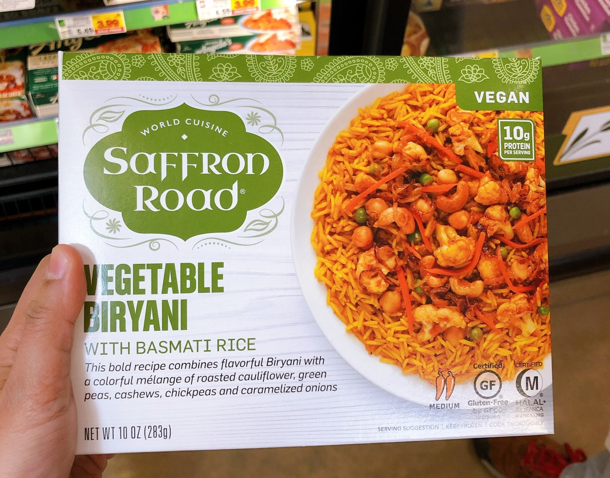 The vegetable biryani has perfectly cooked rice with just the right amount of vegetable.