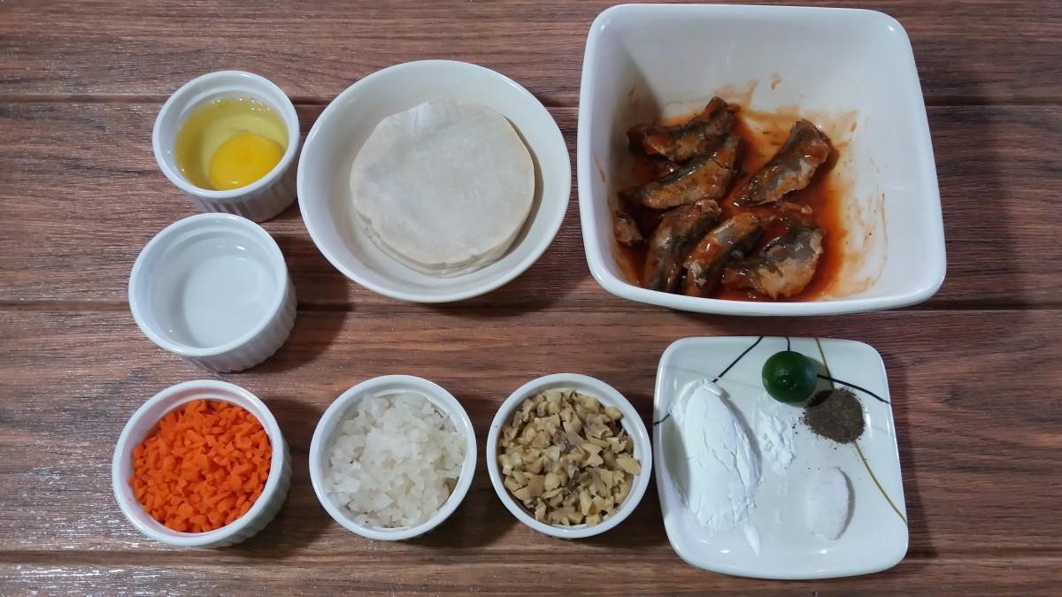 Sardine potsticker ingredients
