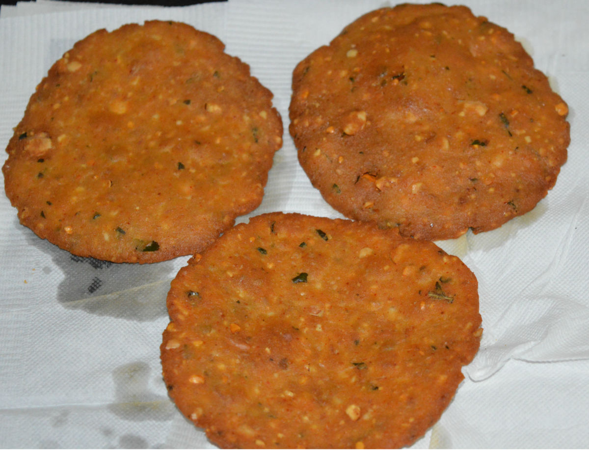 Once they are firm, reduce the heat to a minimum and fry until they become crispy and golden brown.