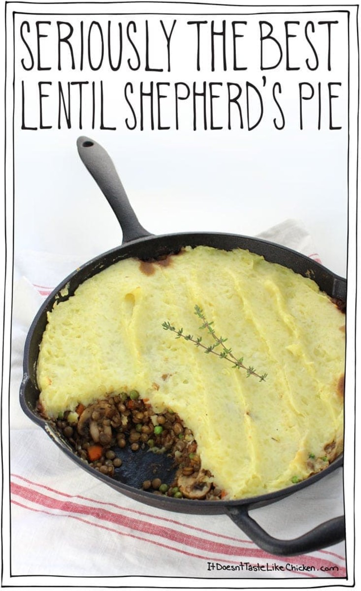 Vegan lentil shepherd's pie.