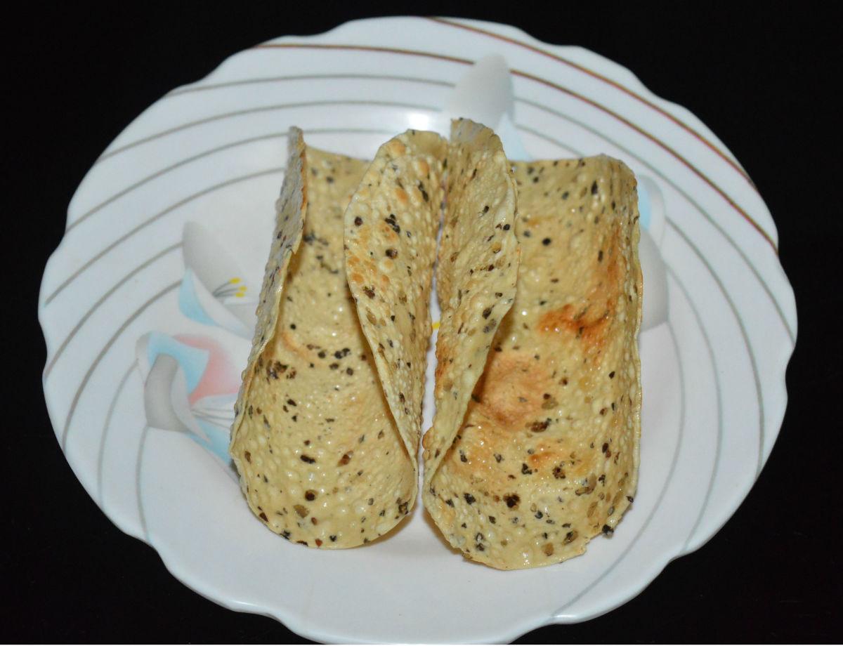 Papad taco shells
