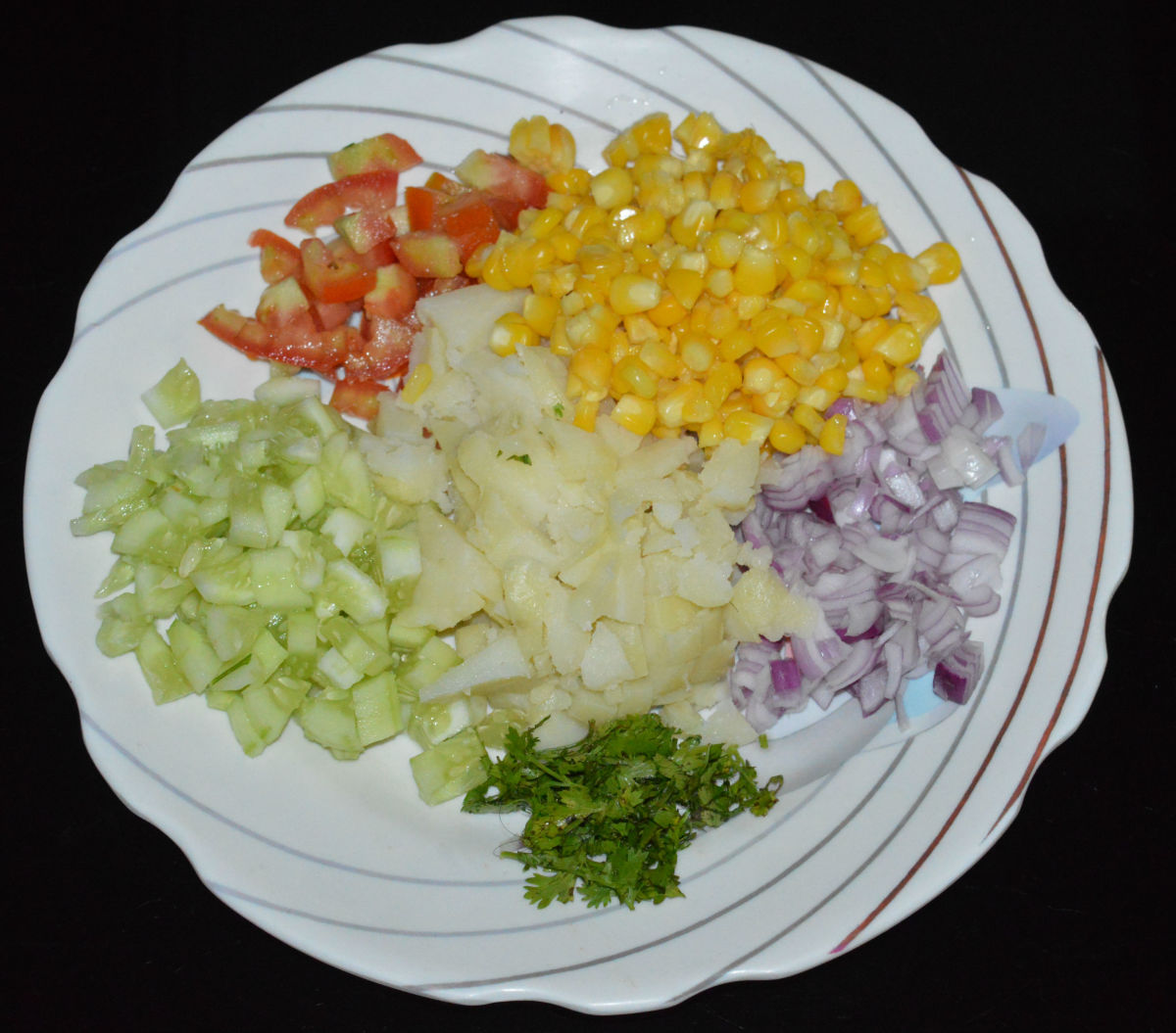 Step 1: Prepare the veggies as per instructions for making taco stuffing.