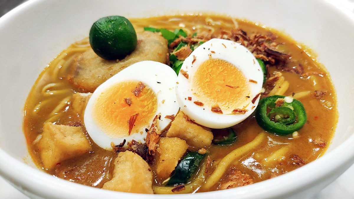 A steaming bowl of mee rebus is a great way to start a day in Singapore.