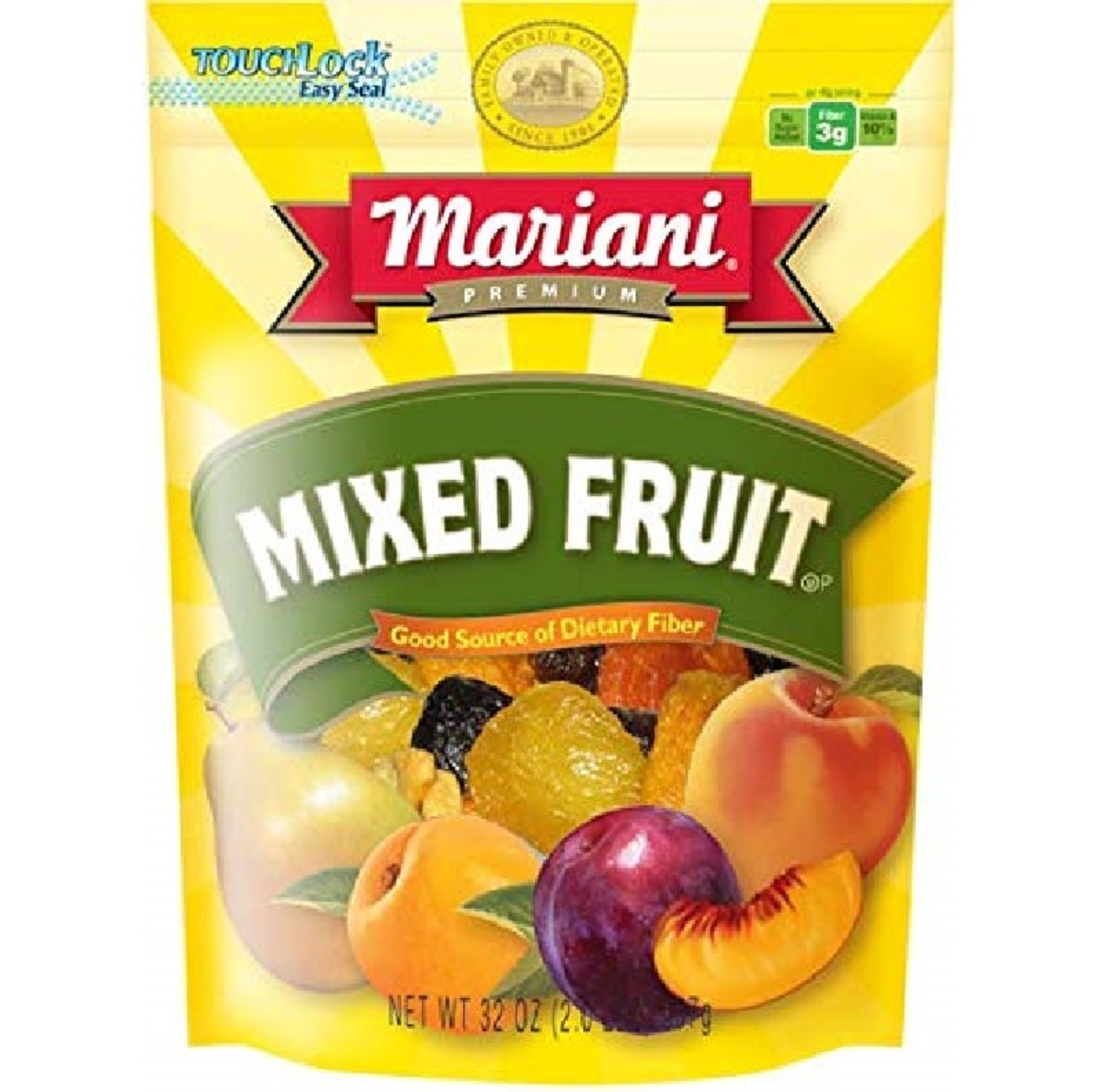 A dried fruit mix in a resealable bag is handy to have in your store cupboard.