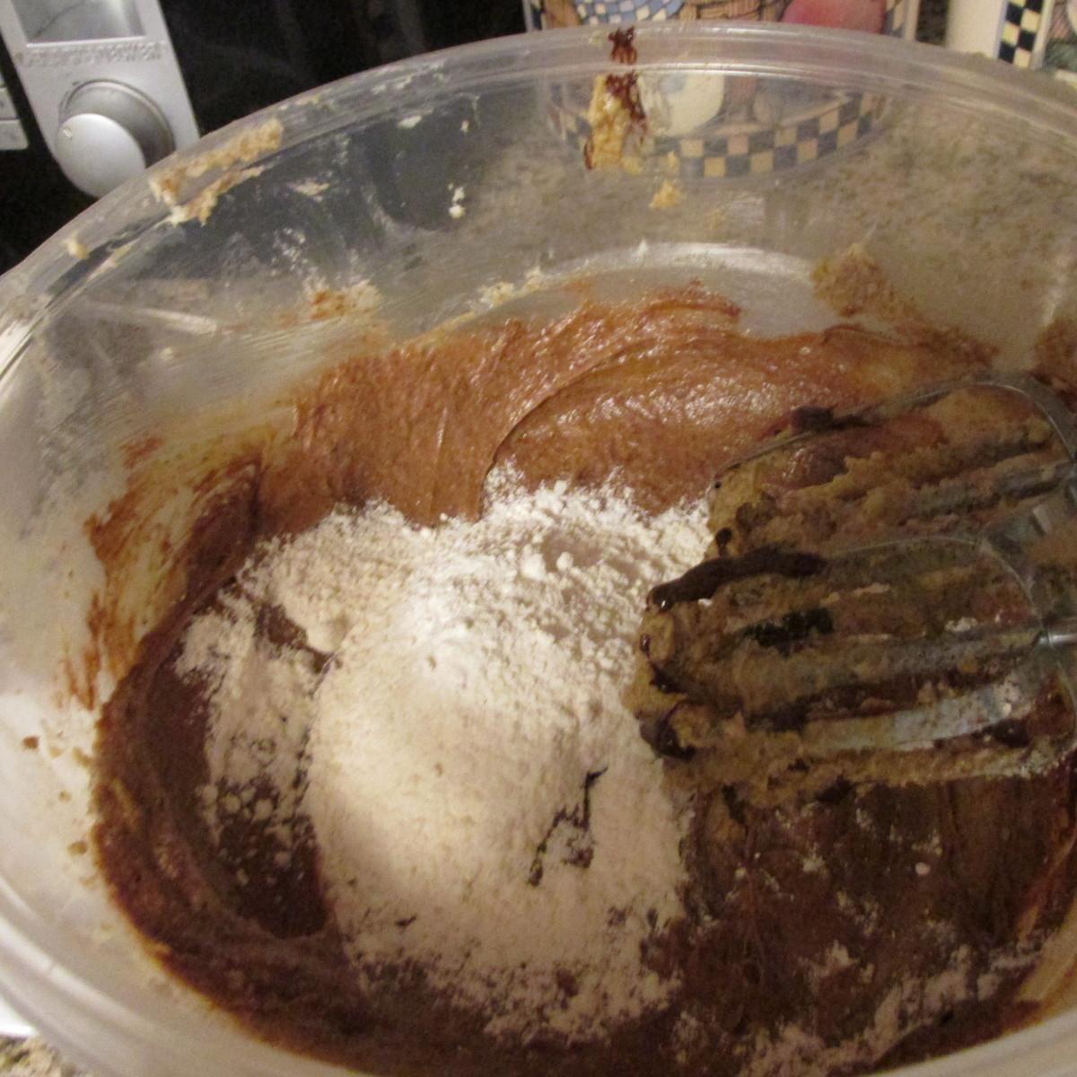 Adding the flour