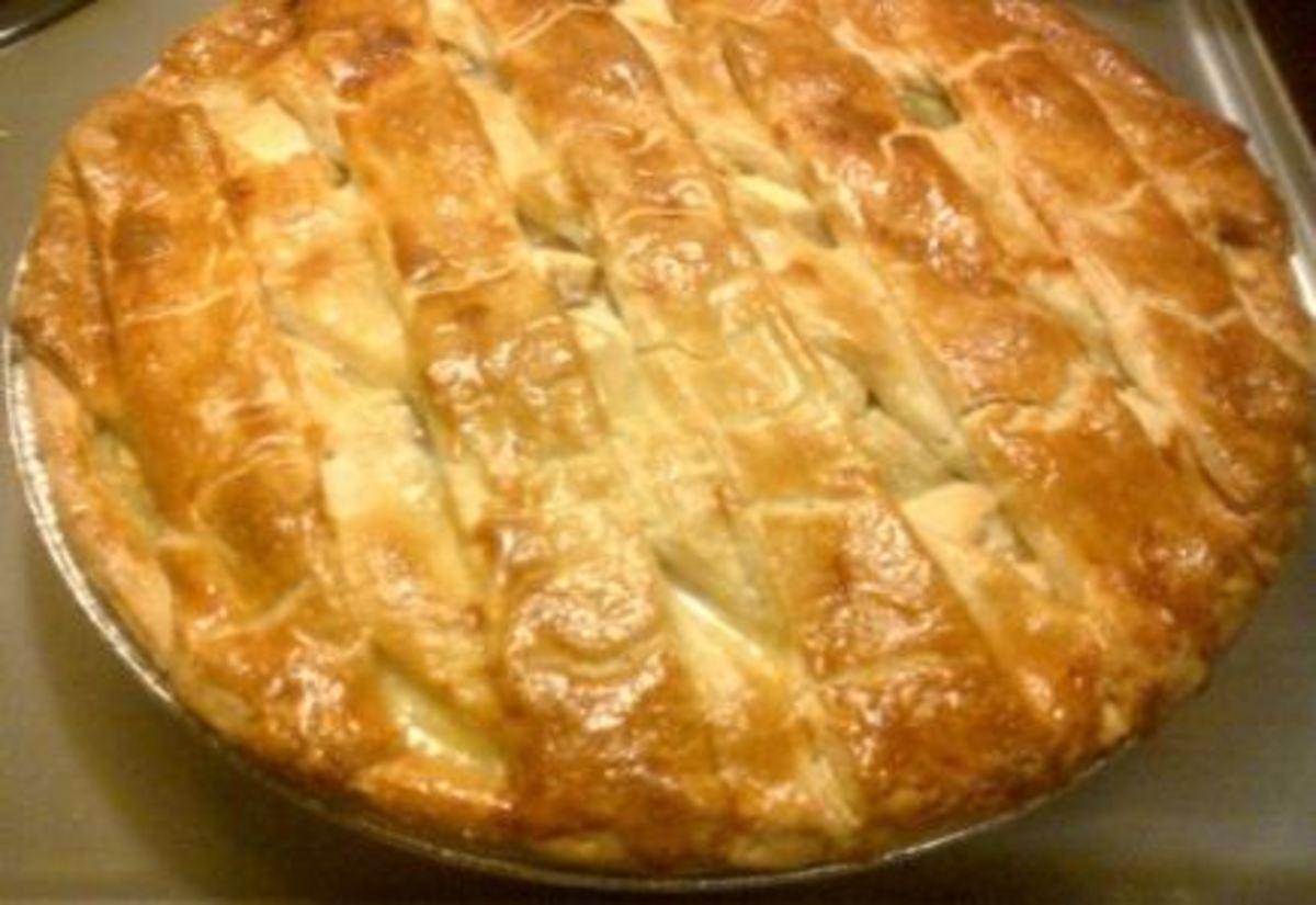 Chicken soup in pie crust