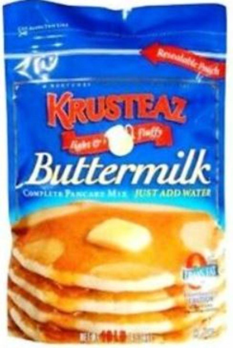 Krusteez brand pancake mix