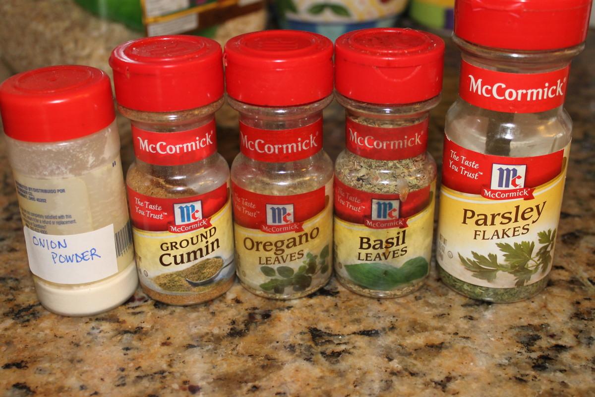 Optional soup seasonings