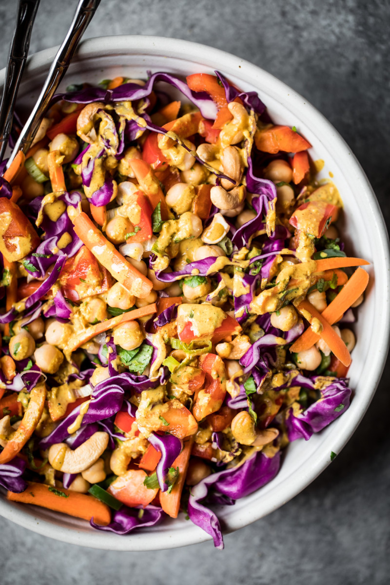 Chopped Thai Chickpea Salad
