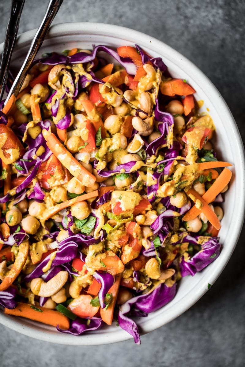 Chopped Thai Chickpea Salad