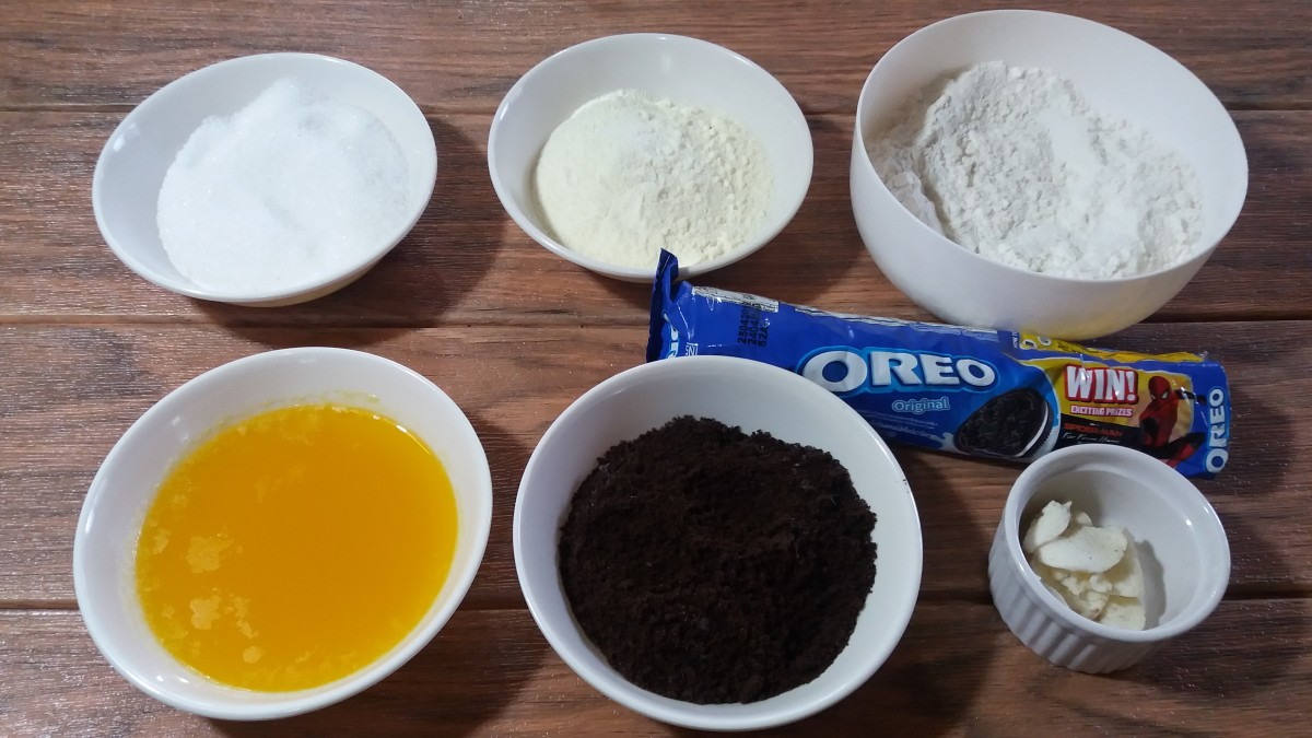 Ingredients for cookies and cream polvoron