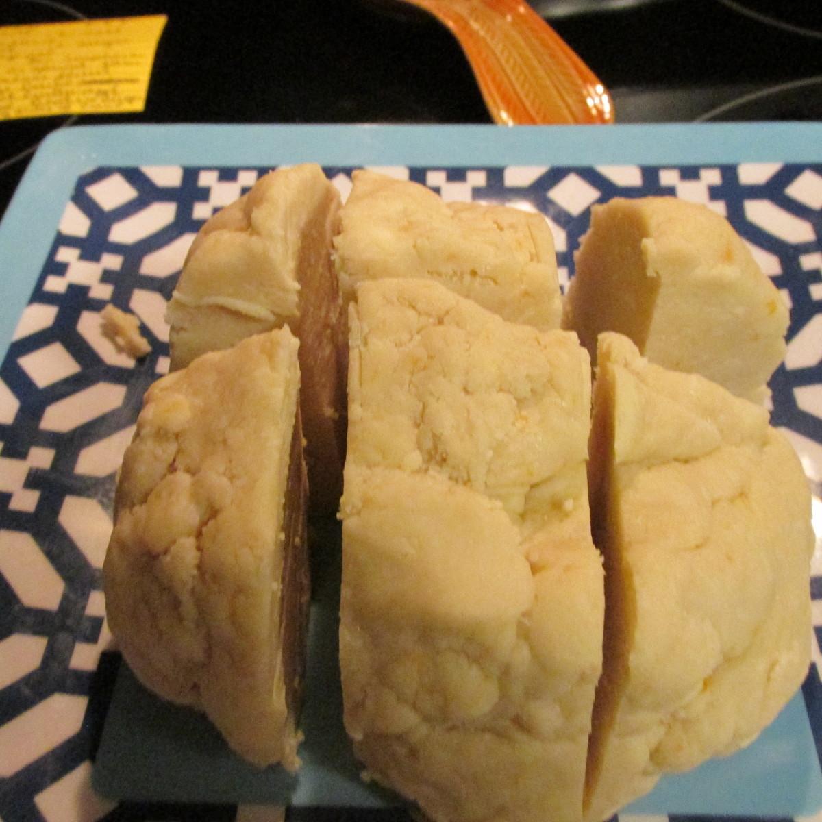 Cut dough into 6 pieces