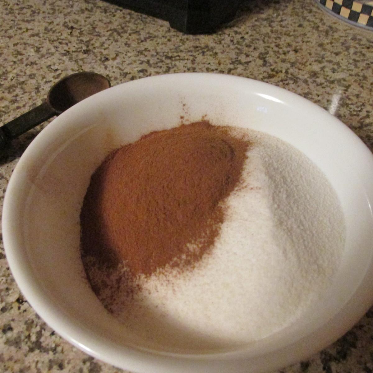 Cinnamon and sugar.