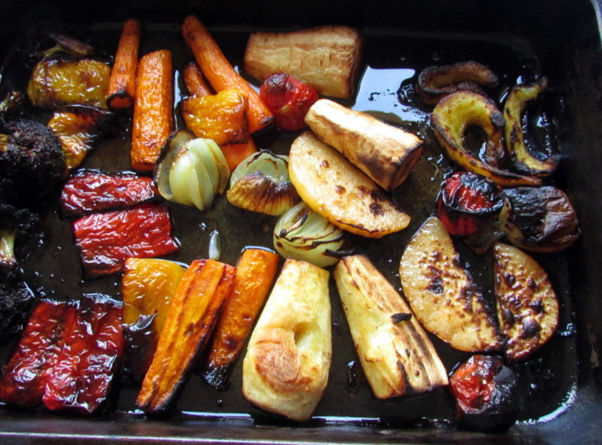 Beautiful and delicious roasted vegetables