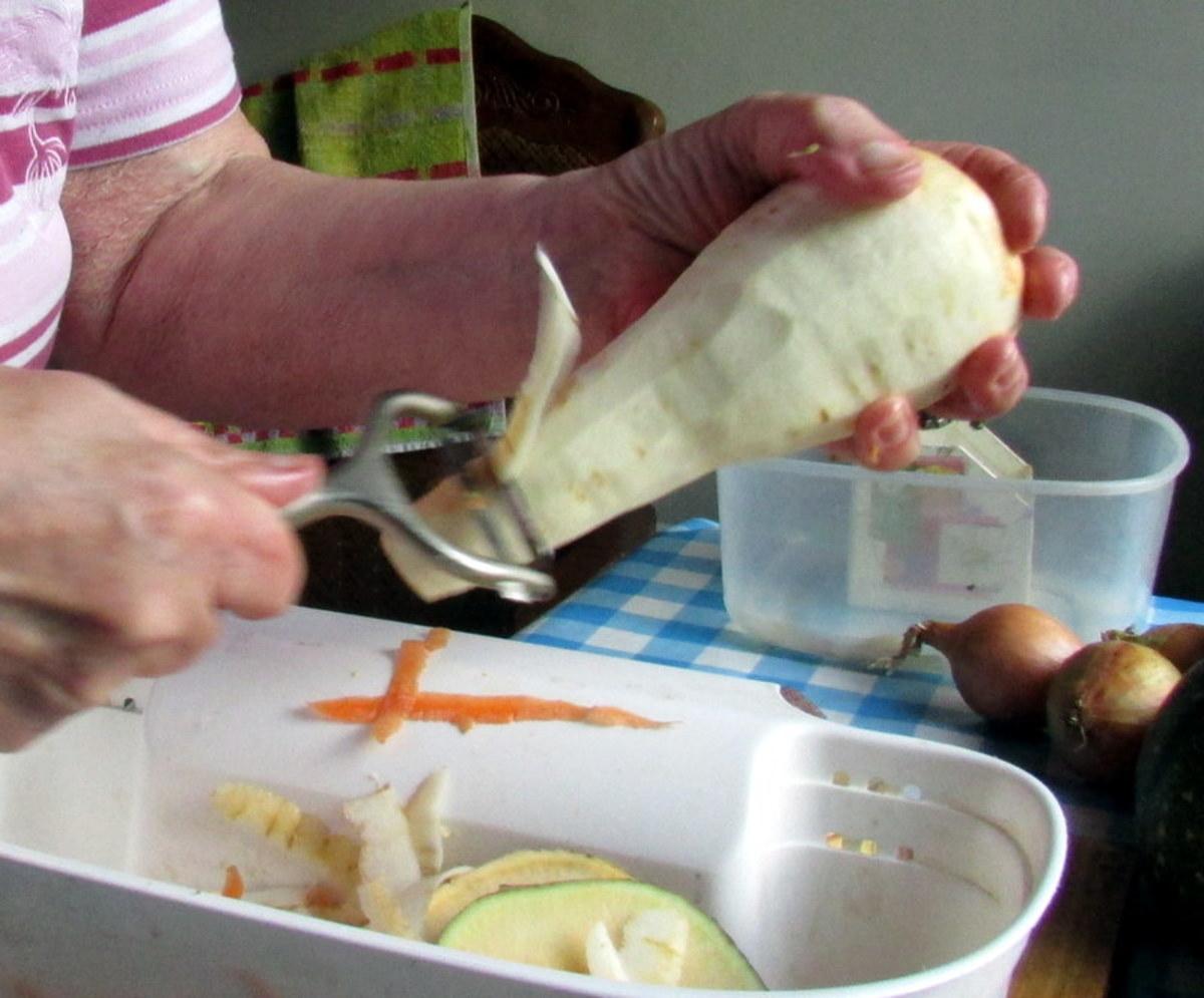Peeling the parsnip