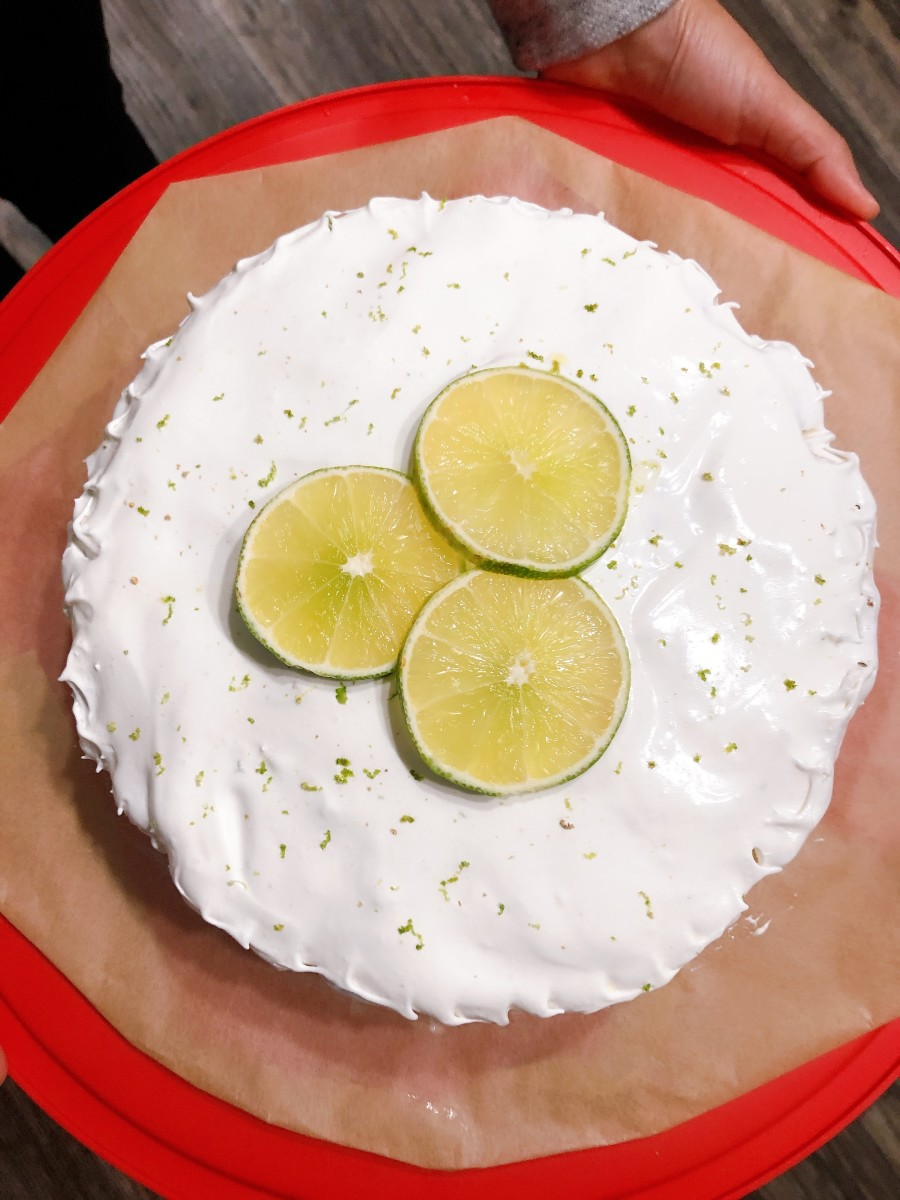 I made a key lime cake for a Thanksgiving dinner with my family. A fulfilled cream cheese and lime frosting between layers and top of the cake, it was a perfect dessert!
