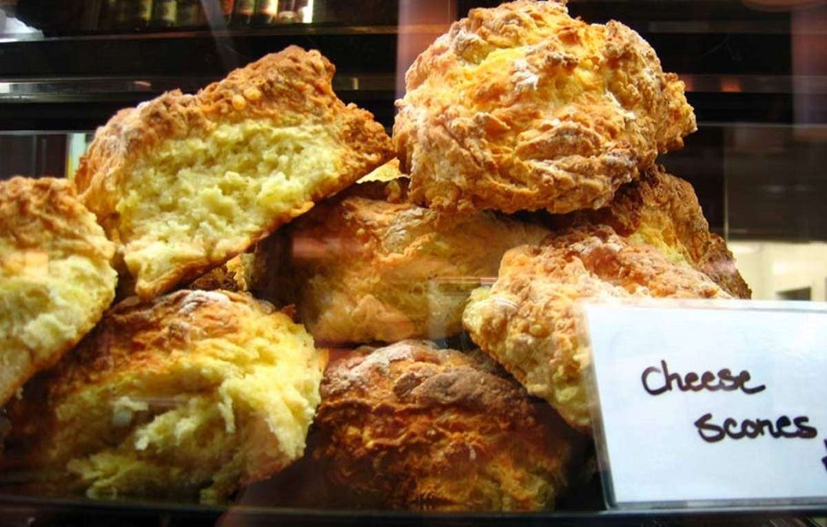 Cheese scones are a good option for anyone who needs to reduce their sugar intake.
