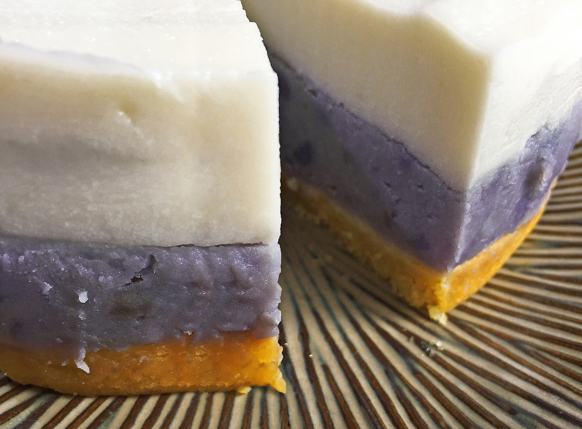 A perfect marriage between purple sweet potato and coconut haupia.