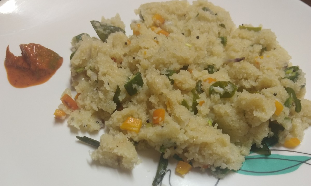 Serve this hot, flavorful upma with chutney, pickle or as it is.