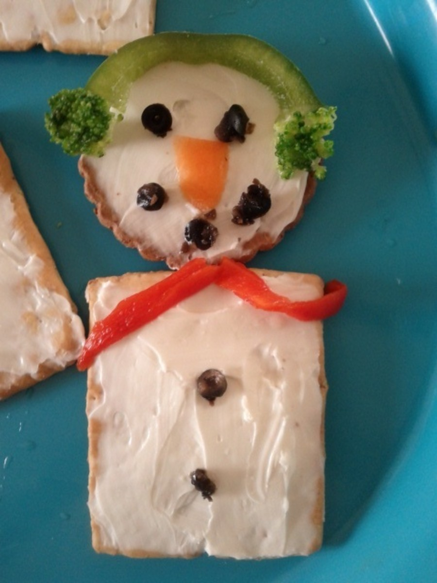 Healthy Snowman Treat