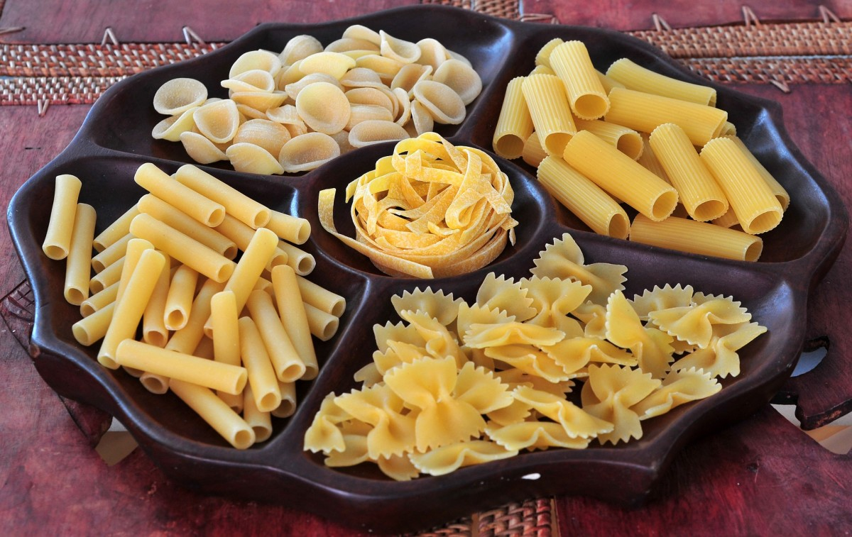 A variety of pasta shapes