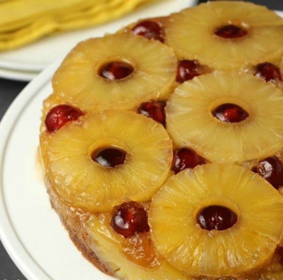 Vegan Pineapple Upside-Down Cake