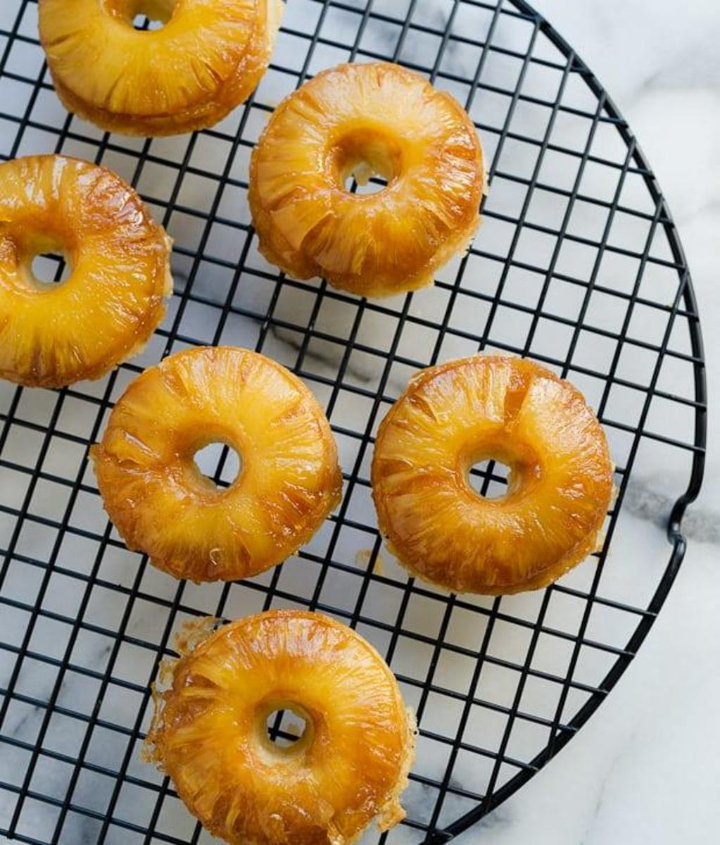 Pineapple Upside-Down Doughnuts