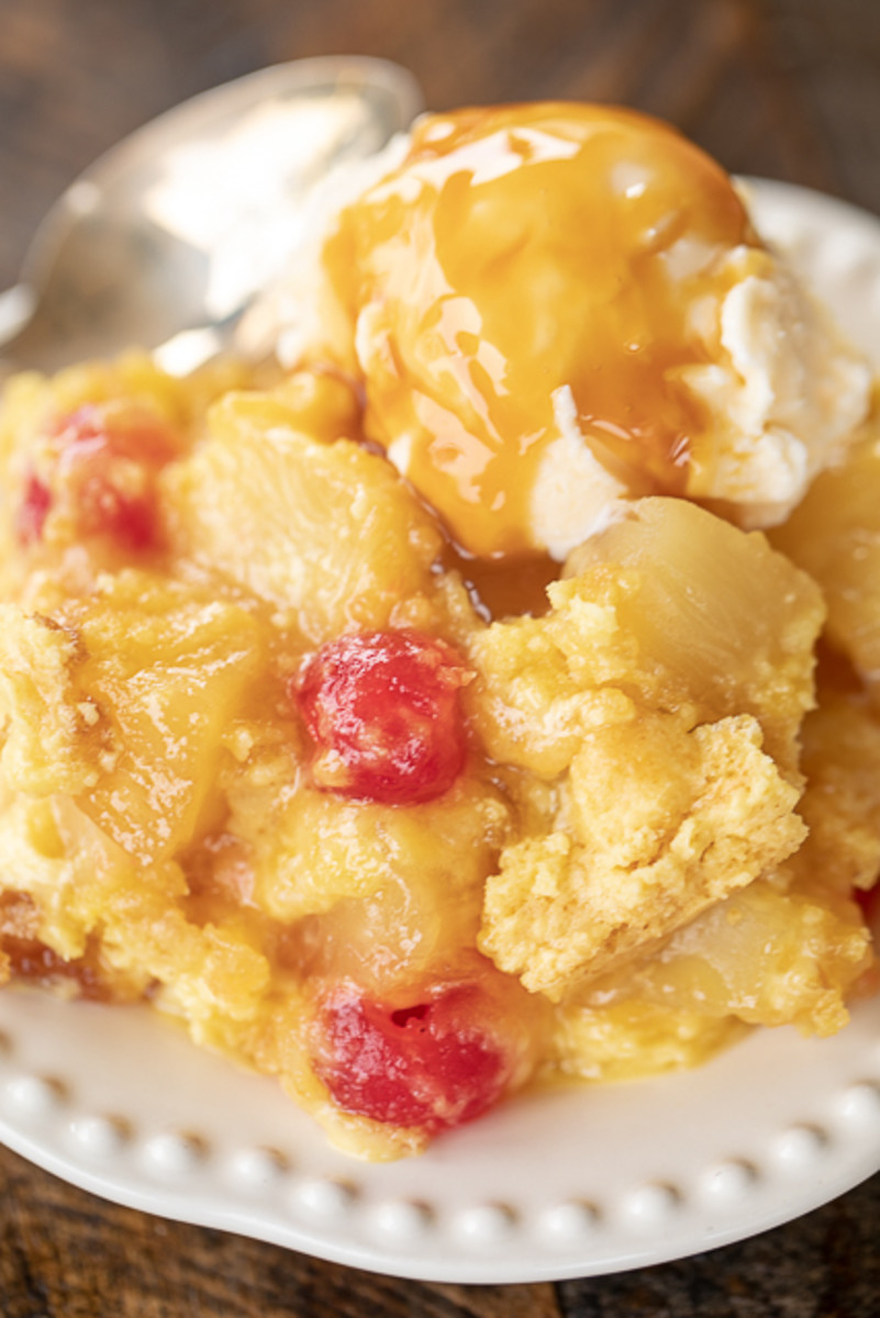 Pineapple Upside-Down Dump Cake