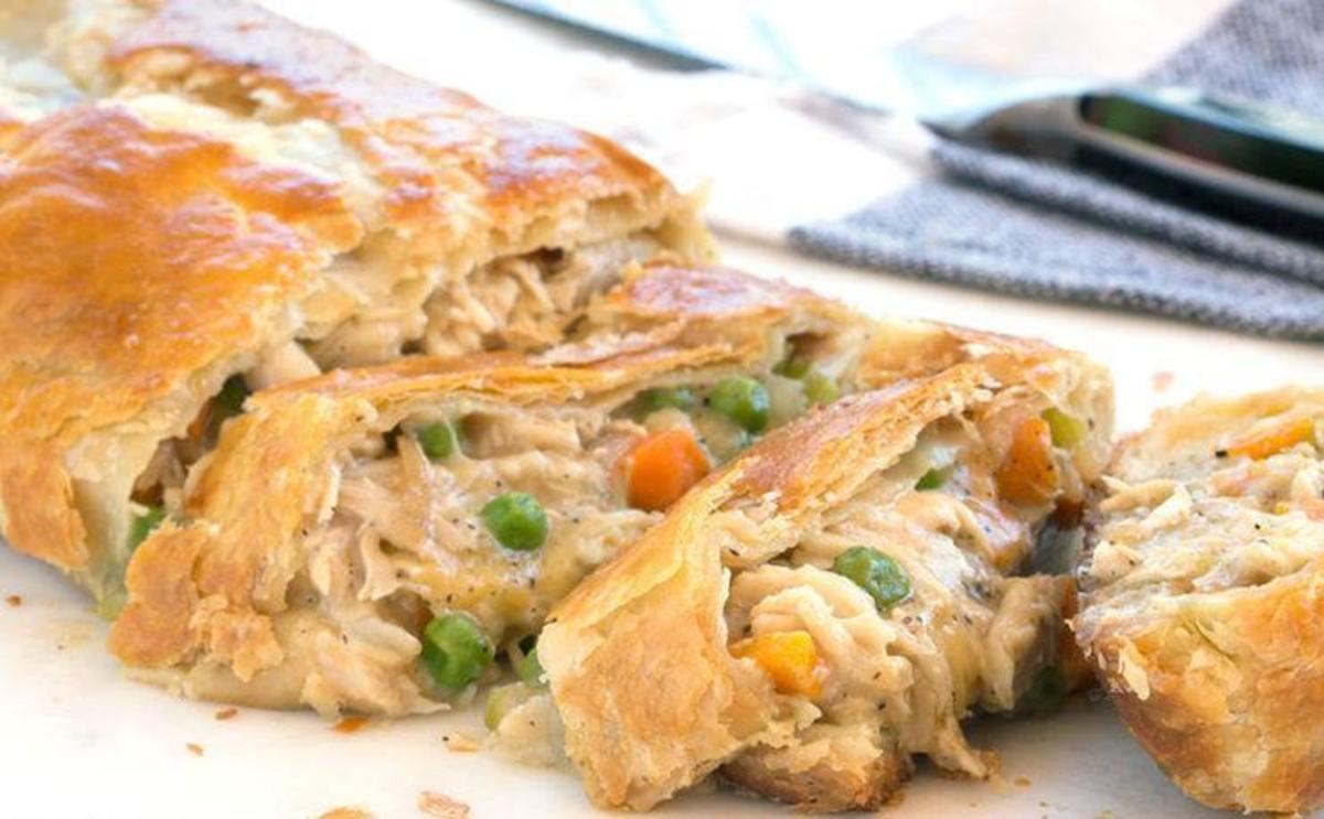 Chicken Pot Pie Stromboli
