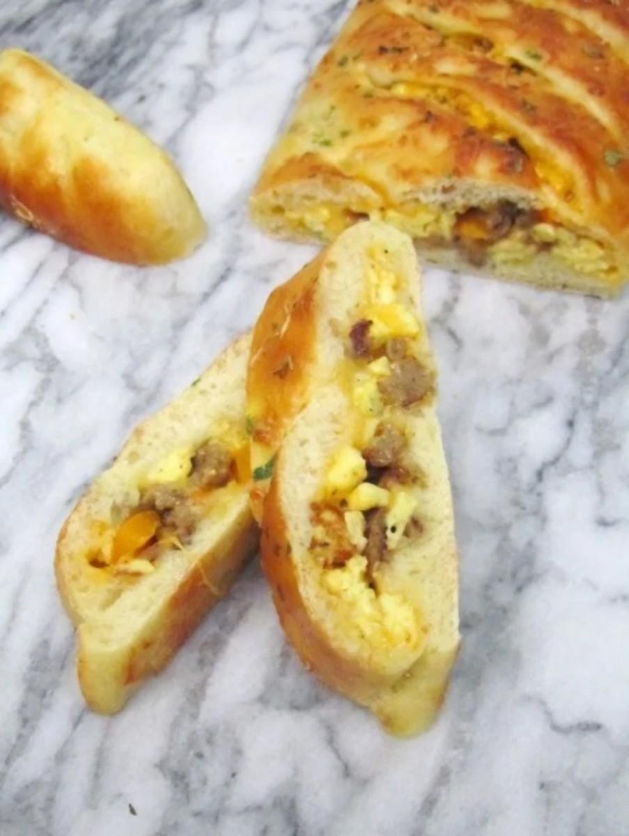 Breakfast Stromboli