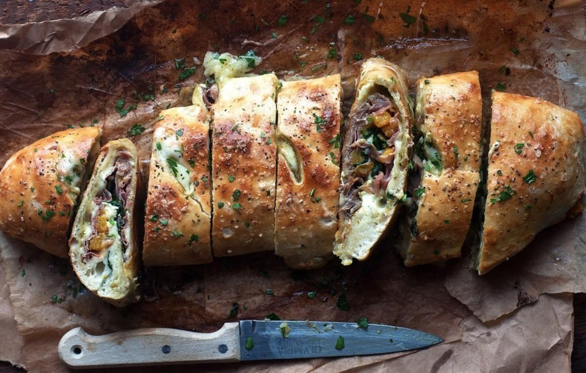 Butternut Squash and Mushroom Stromboli