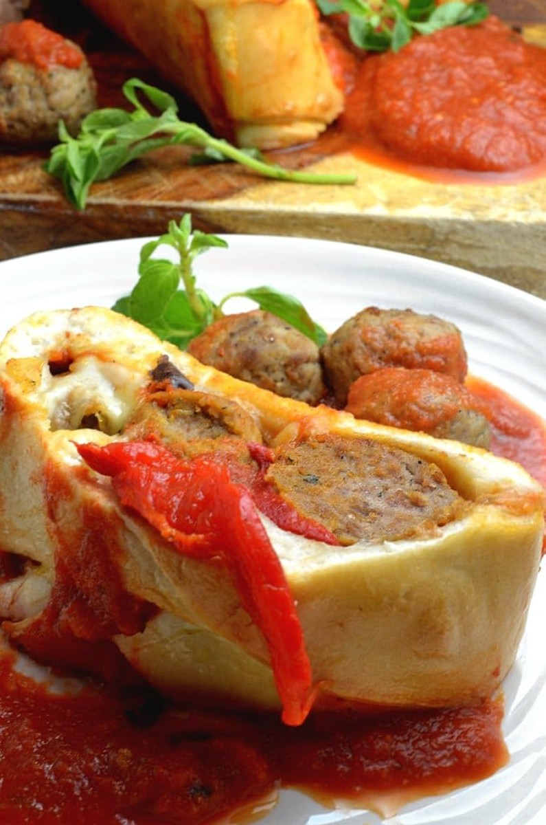 Italian Meatball Stromboli