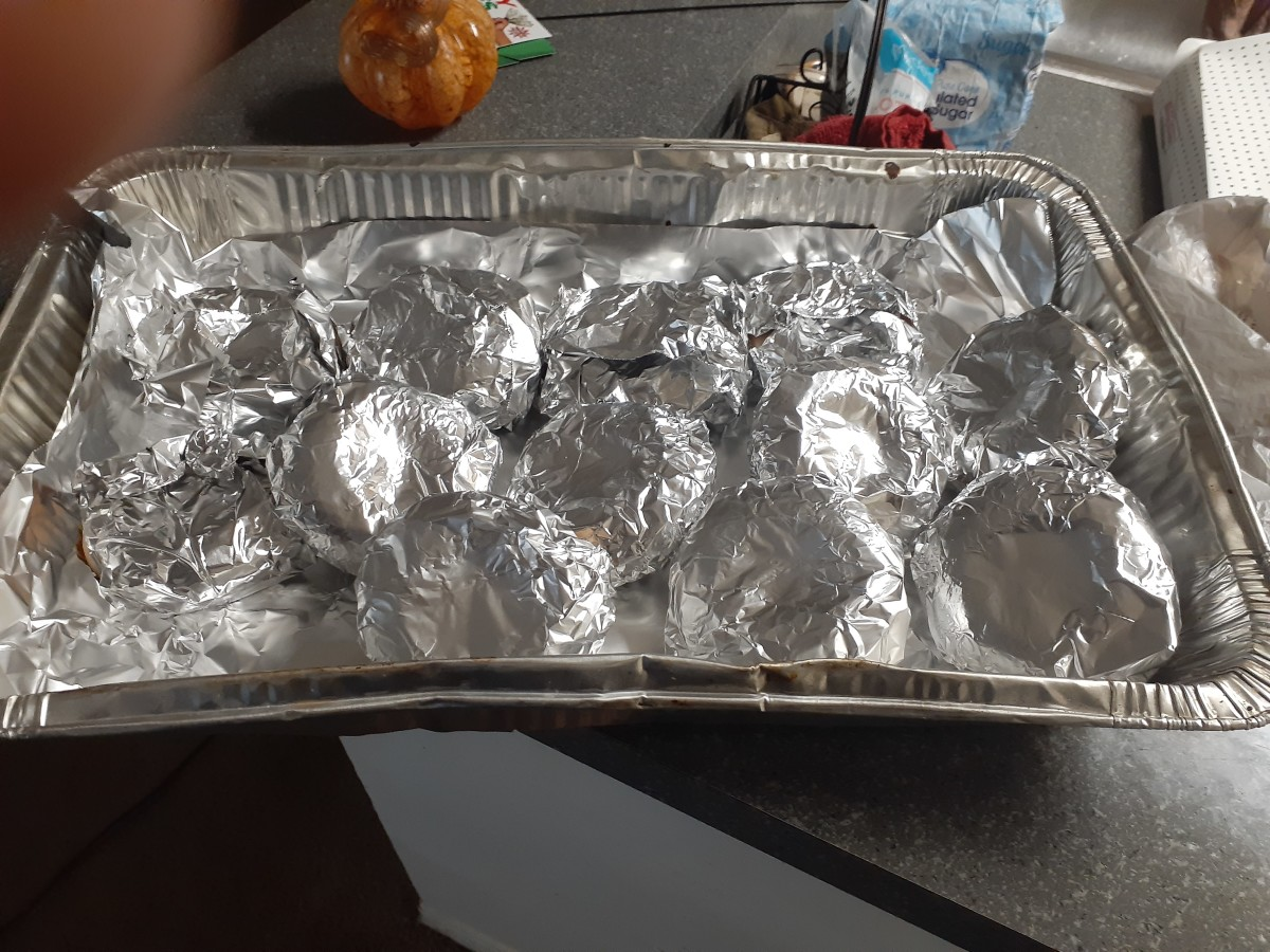 Wrap the donuts in aluminum foil before placing them in the oven.