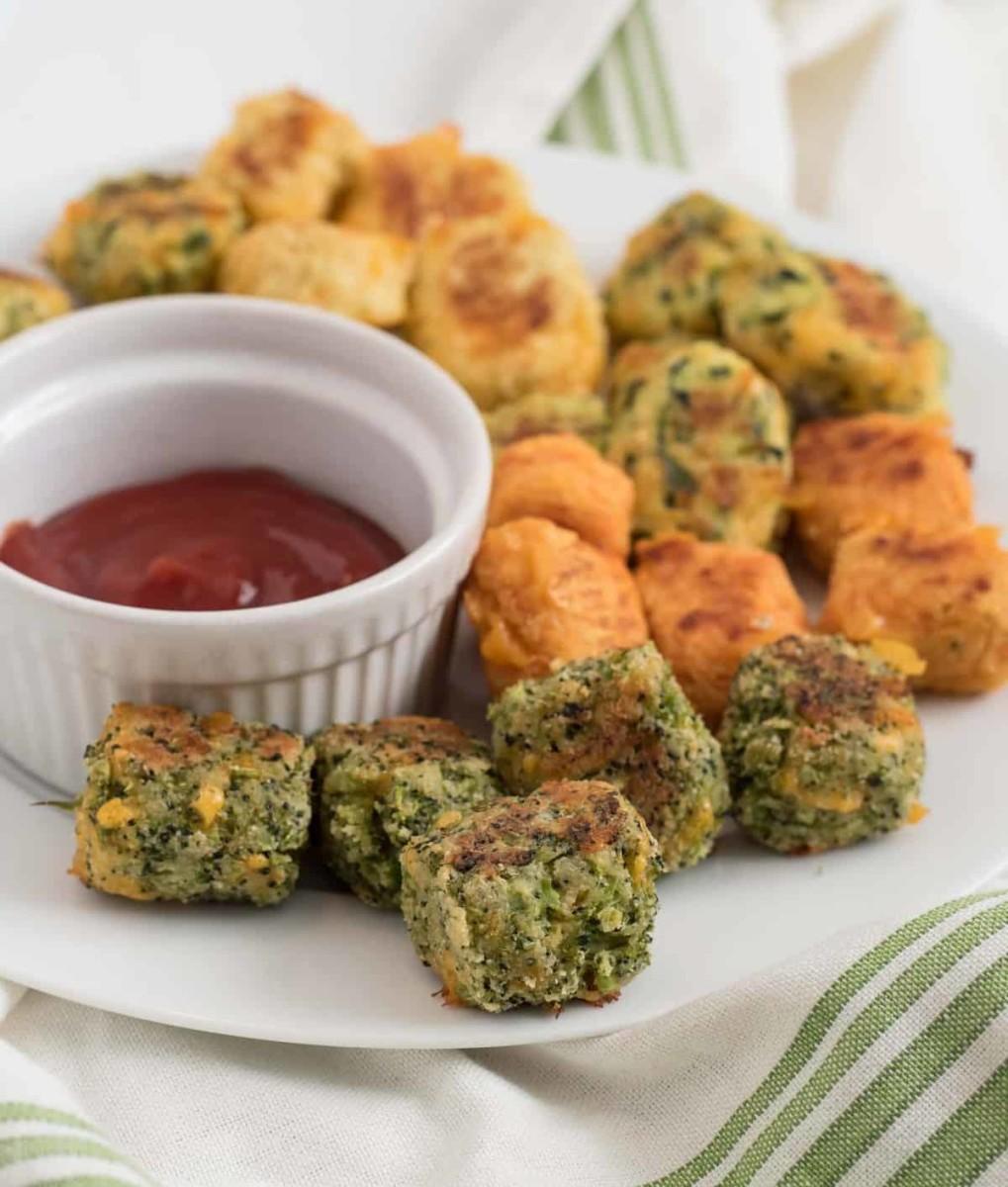 Homemade veggie tots, five ways
