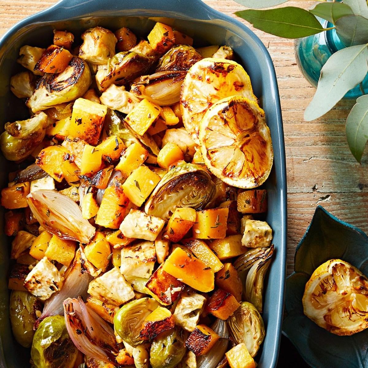Herb-roasted root vegetables