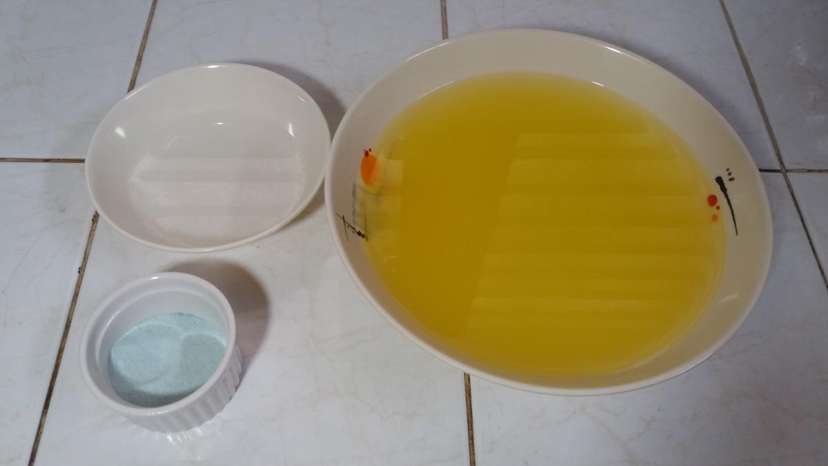 Ingredients for an alien slime drink