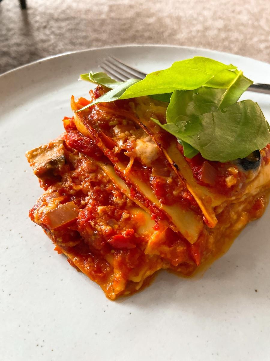 Voila, the final result! The lasagna was delicious.