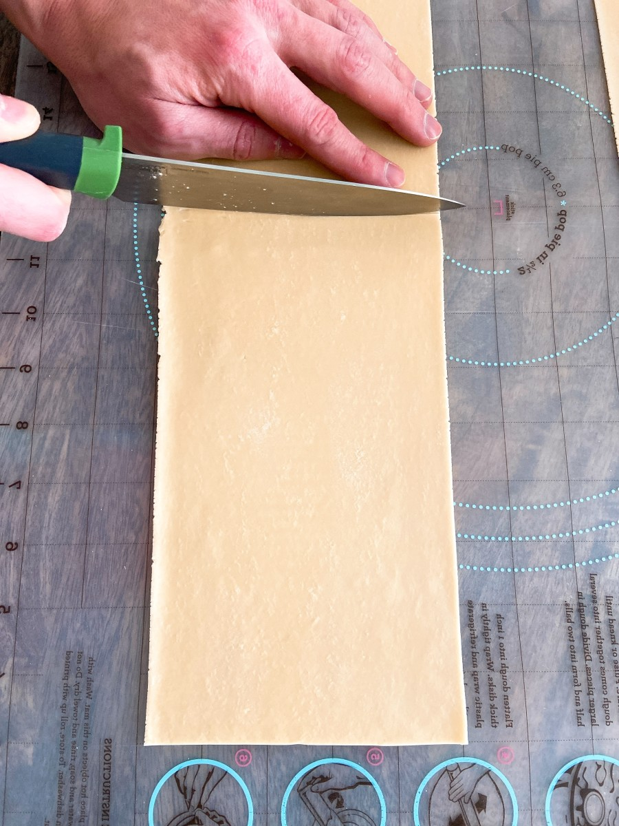 Cut each strip of dough into 11-inch lengths.
